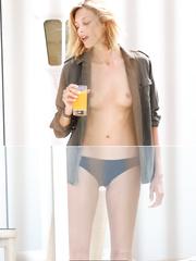 Polish blonde Anja Rubik nude tits paparazzi pics