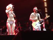 Popular Russian singer Alisa Vox naked on stage
