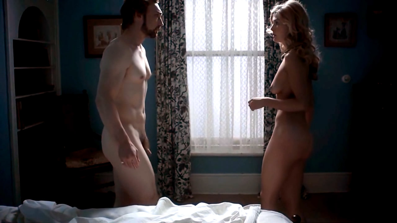 sex with nude blonde woman