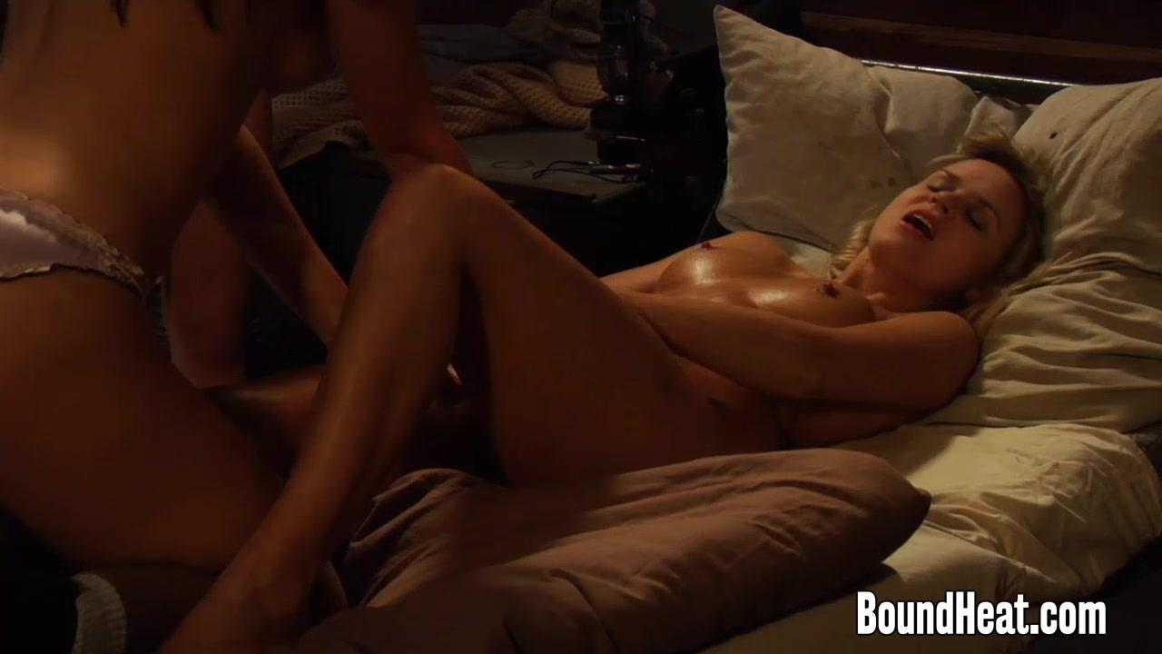 lesbian slaves in silk underwear from boundheat - celebs